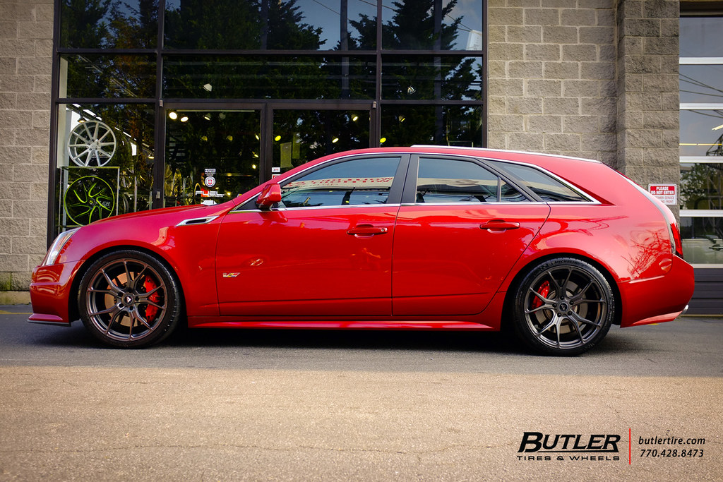 Lowered Cadillac Cts V Wagon With 20in Vorsteiner V Ff 103 Flickr