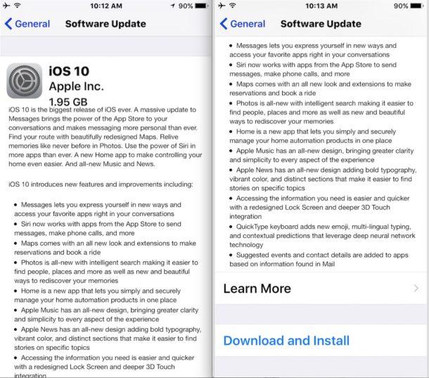 iOS 10 OTA