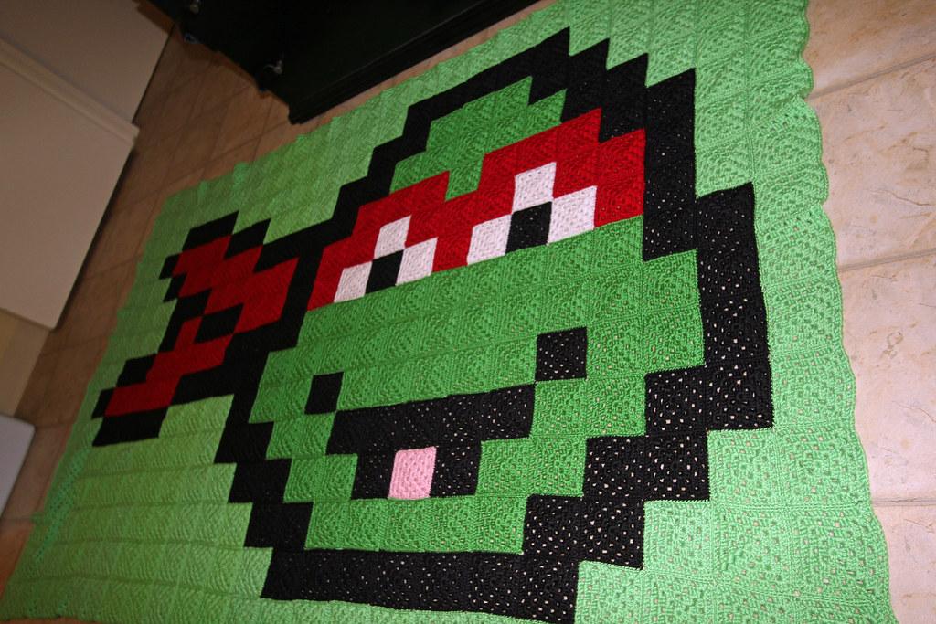 8 Bit Teenage Mutant Ninja Turtles A Full Sized Crocheted Flickr