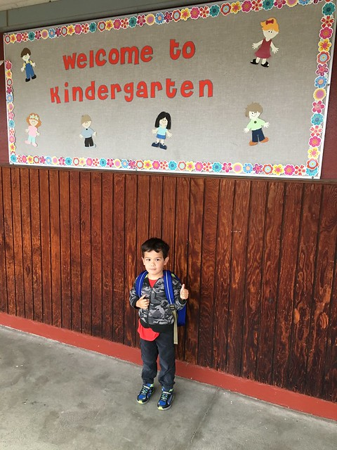 Vincent First Day of School Kindergarten