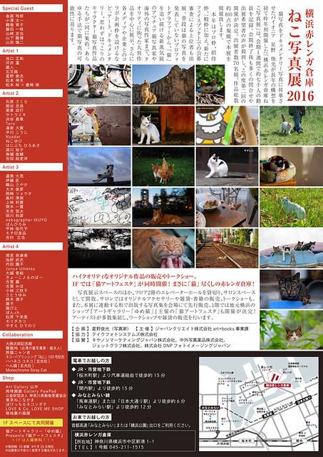 横浜赤レンガねこ写真展2016 裏