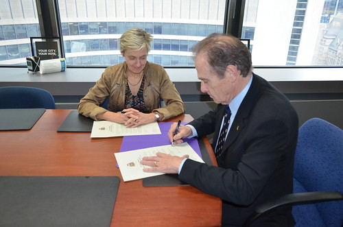 Signing Declaration of Office | by Councillor Norm Kelly