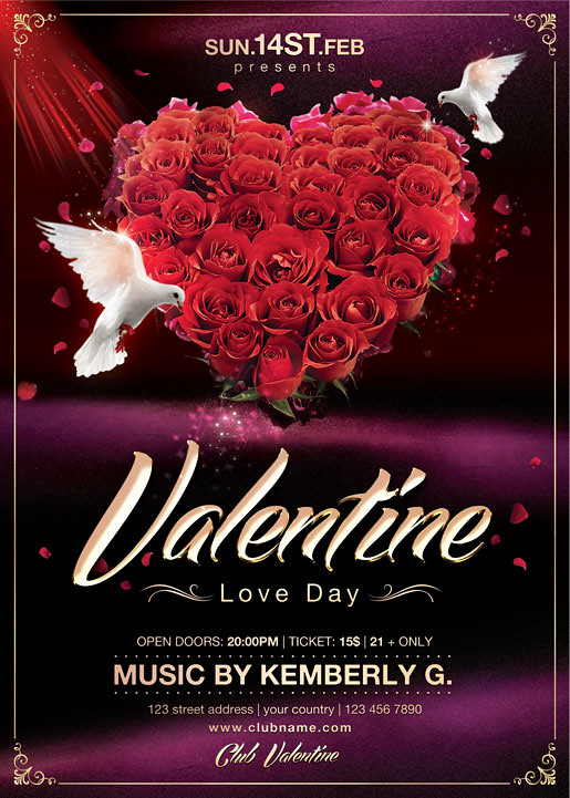Valentines Day Flyer Template You Can Download The Psd Fi Flickr