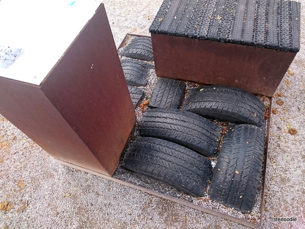 spare tires made into seats