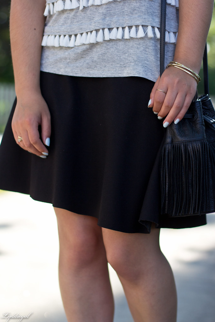 tassel tee shirt, black skirt, fringe bag-3.jpg