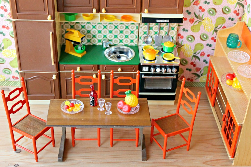 ... 1970s Fleur Doll Kitchen, Frade Dining Room Set And 1960s Keychain  Miniature Groceries | By