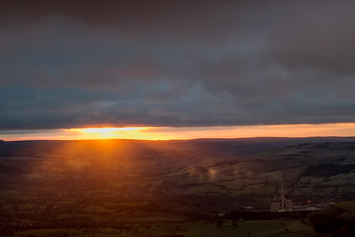 Sunrise across the cement works | by gwynna