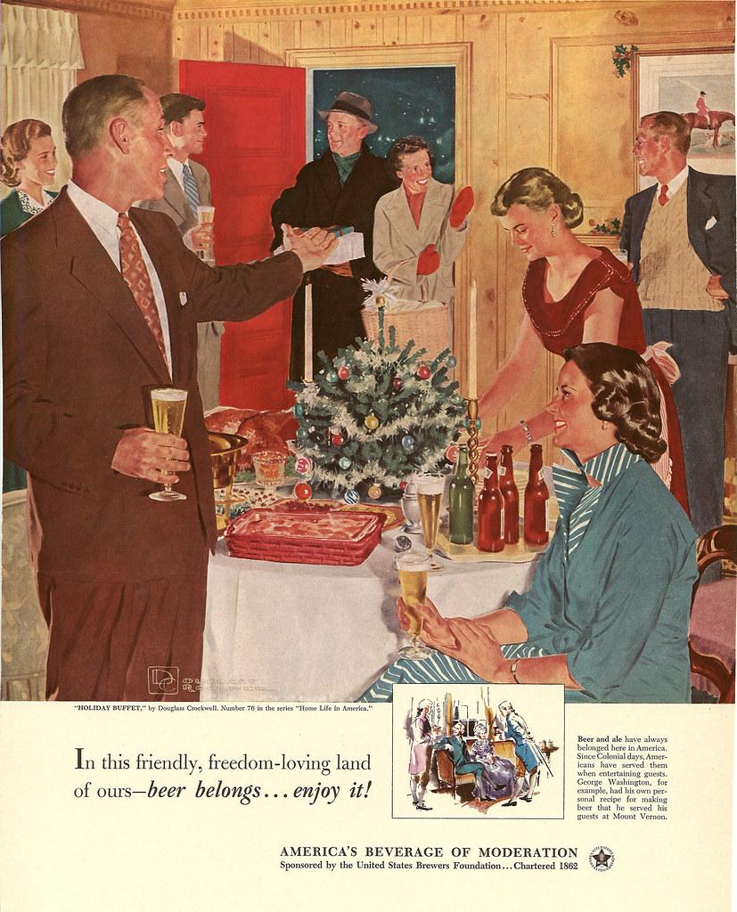 076. Holiday Buffet by Douglass Crockwell, 1952