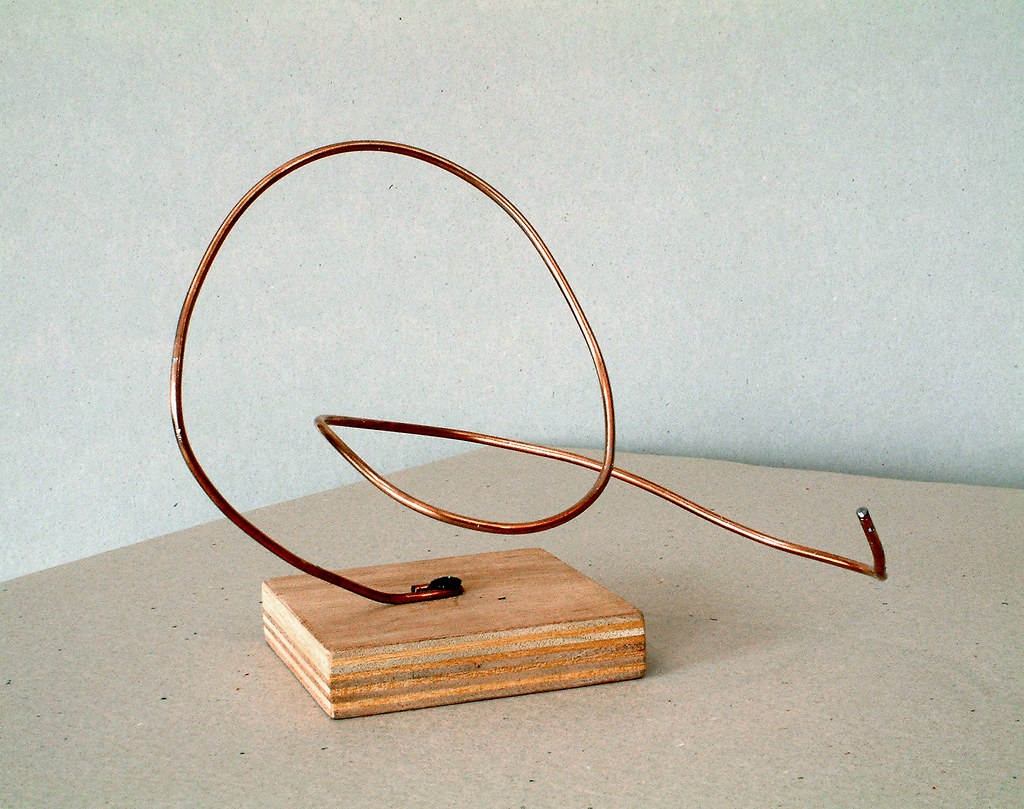 2005 - \'Reclining organic curl\', small abstract wire sculp… | Flickr