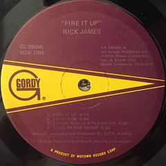 RICK JAMES:FIRE IT UP(LABEL SIDE-A)