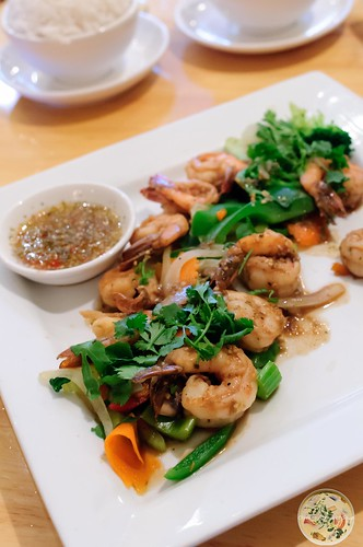 Garlic Prawns and Vegetables