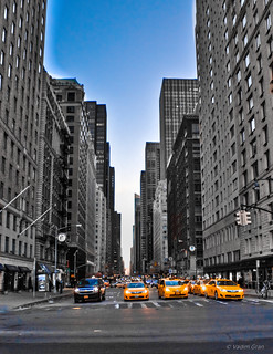 Yellow cabs on 6th Avenue | by pickle.monger