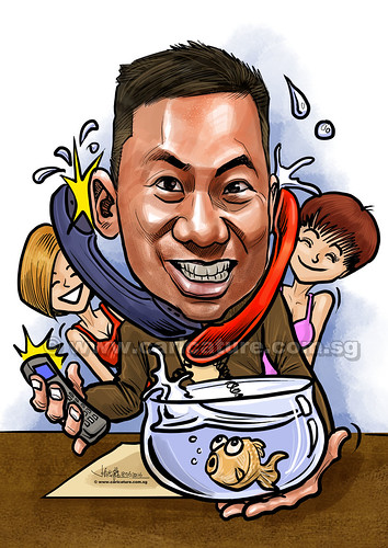 SYT digital caricature for PropertyGuru (watermarked) | by jit@portraitworkshop.com