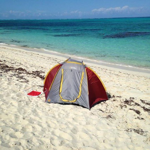 A simple beachside campsite - perfection! #camping #outdoors | by arkportablepower