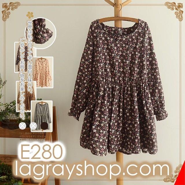 plaid / floral dress E280 We ship WORLDWIDE  We accept deb