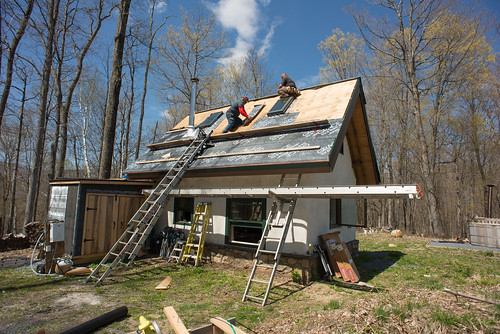 Cottage Roof Being Flashed and Re-Covered | by goingslowly