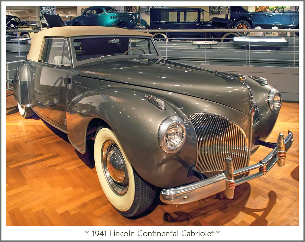 Edsel Ford's 1941 Lincoln Continental Cabriolet | Visit on F… | Flickr