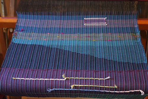 clasped weft laid in stripes