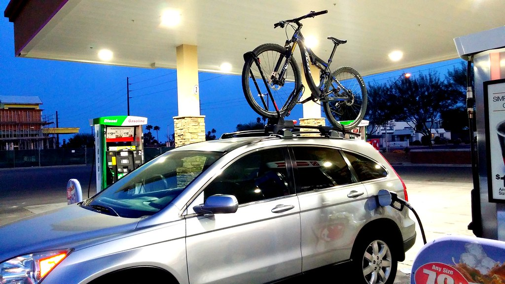 By Ndlpz Honda CRV With Yakima Frontloader Bike Rack. | By Ndlpz
