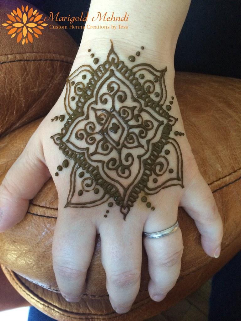 Mandala Henna Design On Back Of Hand Theresa Viswanathan Flickr