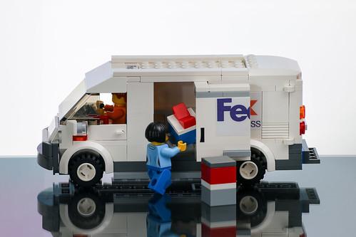 Moc Fiat Fedex Van Parcels Are Always Delivered On Time