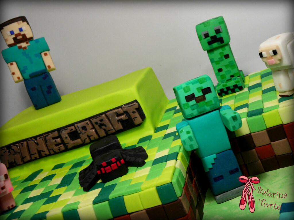 minecraft torta képek Minecraft Cake   Minecraft torta by Balerina Torta Jagodin…   Flickr minecraft torta képek
