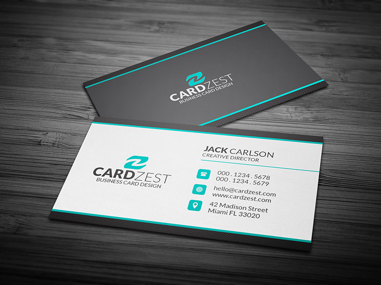Clean professional corporate business card template flickr clean professional corporate business card template by meng loong wajeb Gallery