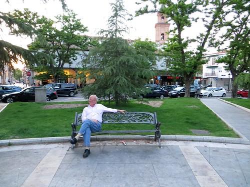 Sitting in Barajas