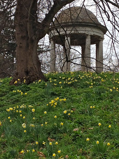 Kew Gardens folly and daffodils | by smark31