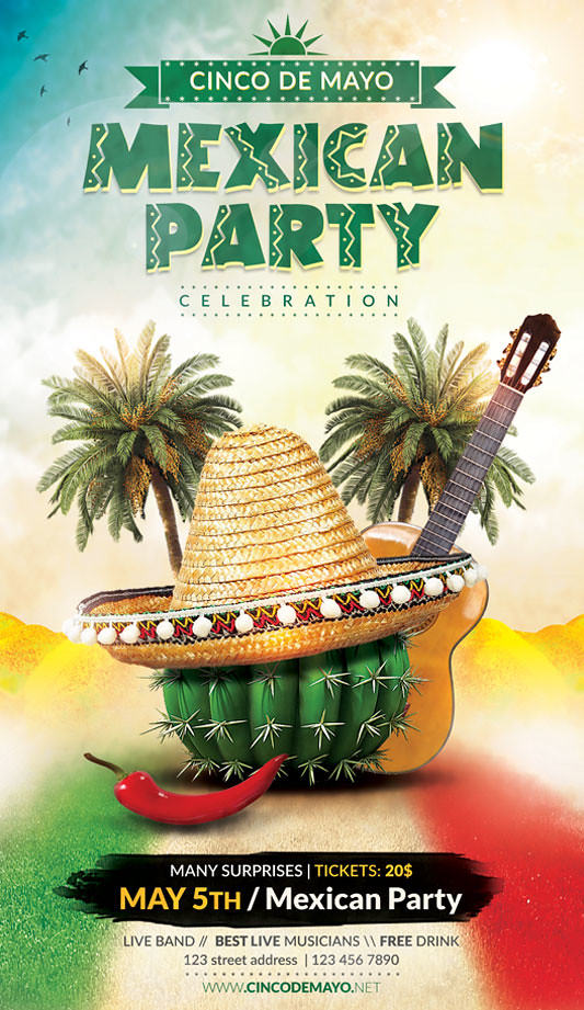cinco de mayo flyer template you can download the psd file flickr