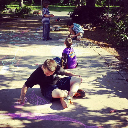 Major chalk art is happening here! | by SarabellaE / Sara / Love in the Suburbs