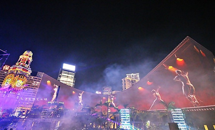 14 香港 閃躍維港 3D光雕匯演