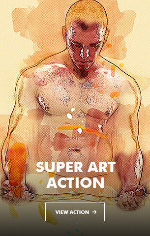 Acrylic Painter Photoshop Action