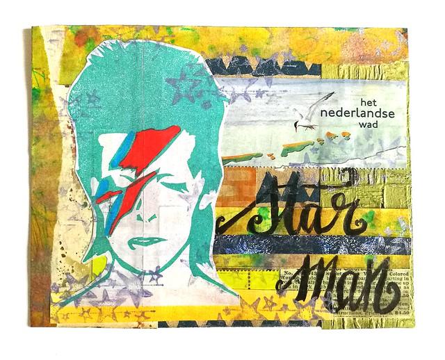 mail art Star Man
