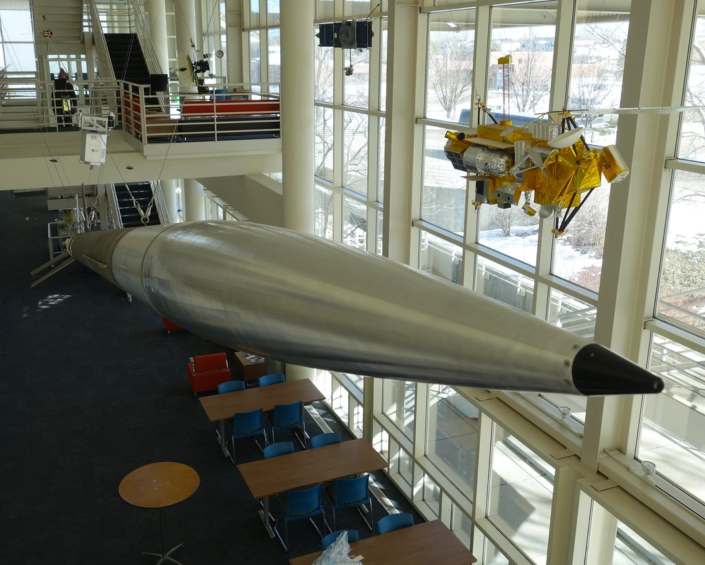 aerobee 150 rocket and the nose cone i have at work flickr