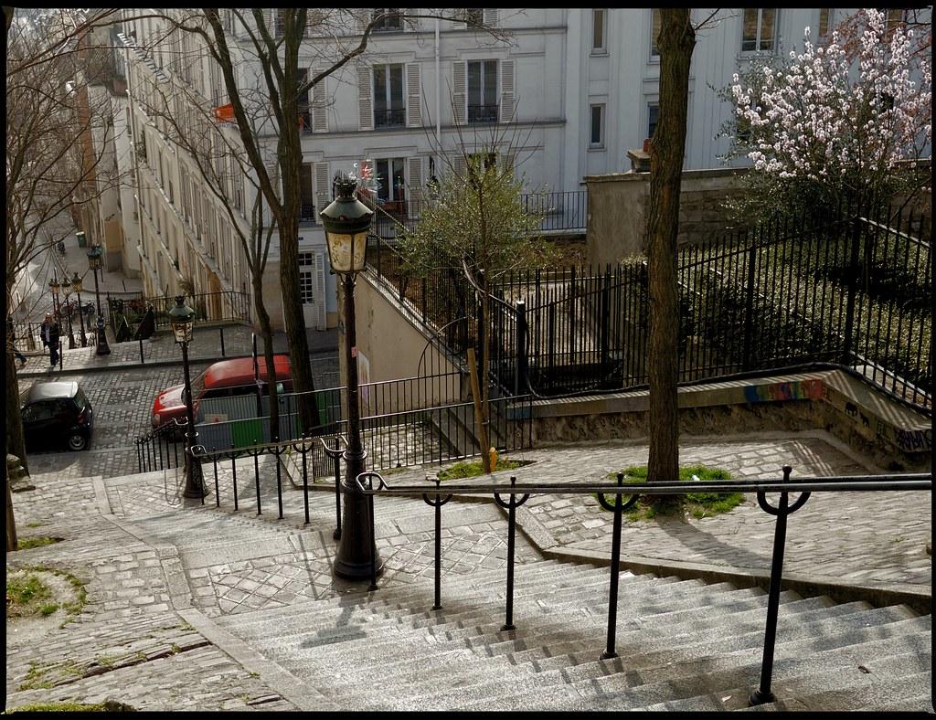 escaliers , rue Chappe / Montmartre , Paris , France | Flickr
