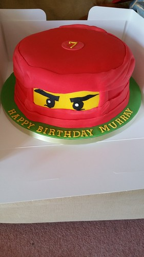 Red Ninjago lego cake | by platypus1974