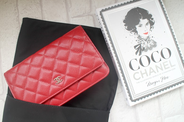 Red Chanel Wallet on a Chain