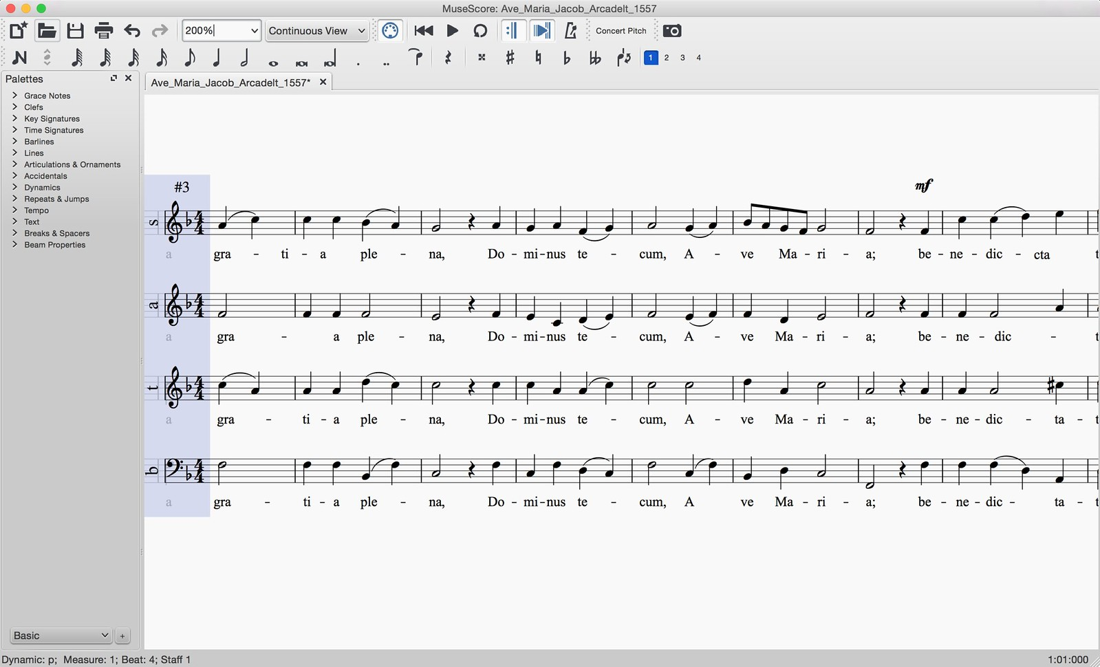 SATB Score in continuous view   MuseScore   Flickr