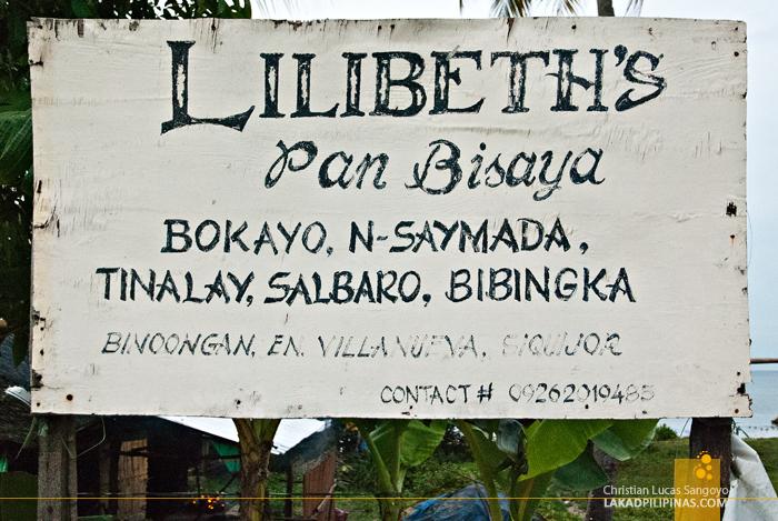 Lilibeth's Pan Bisaya, Siquijor