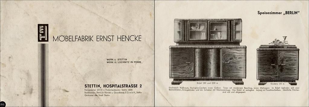 Szczecin Stettin Möbelfabrik Ernst Hencke Speisezimmer Flickr