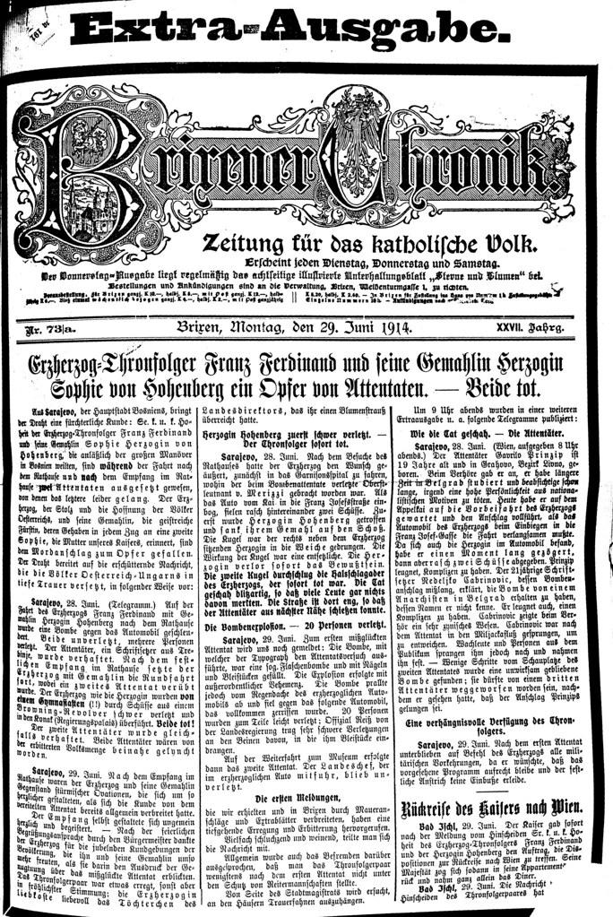 Zeitungsbericht: Ermordung von Franz Ferdinand und Gattin | Flickr