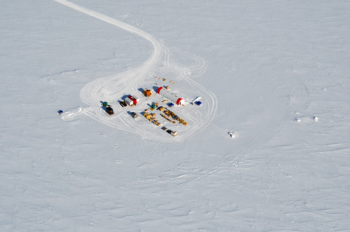 The South Pole Ice (SPICE) Core field camp, located a few kilometers from the Amundsen-Scott South Pole Station, was set up during the 2014-15 field season | by U.S. Ice Drilling