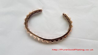 Rose Gold Plated Bangle | by PureGoldPlating