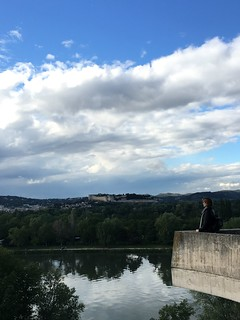 Lookout over Rhône River in Avignon | by Kate Wirth
