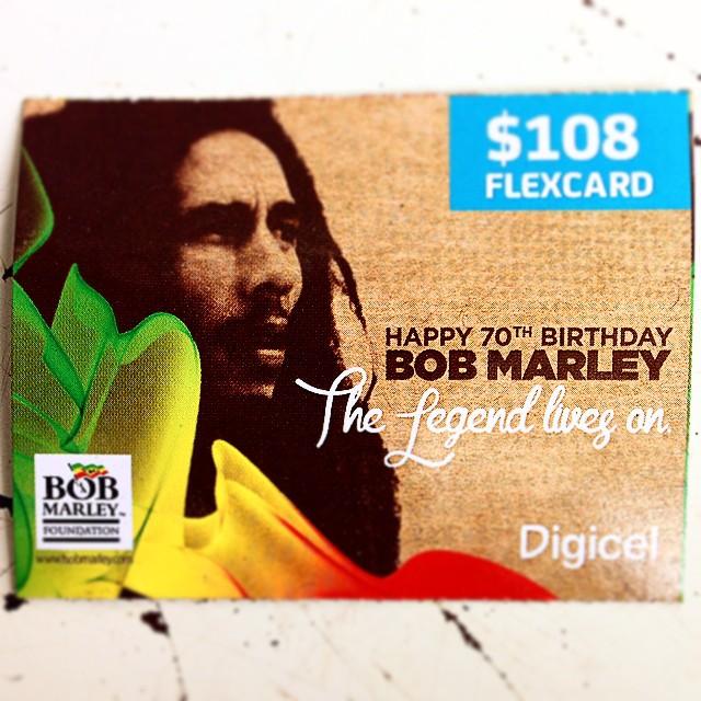 Late Post Digicel Jamaica Bob Marley The Legend Lives On Flickr