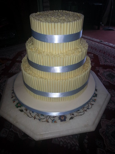 White chocolate cigarello Wedding cake | by platypus1974