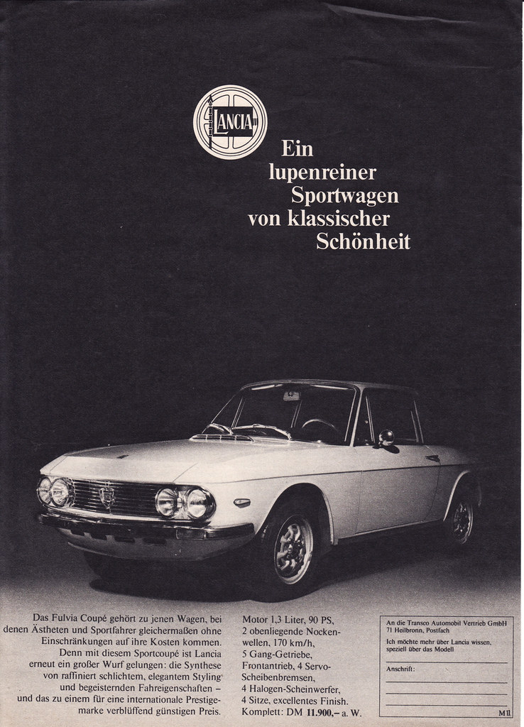 1971 lancia fulvia coupe ad germany covers the 1971 lanc flickr rh flickr com lancia fulvia owners manual Lancia Thema