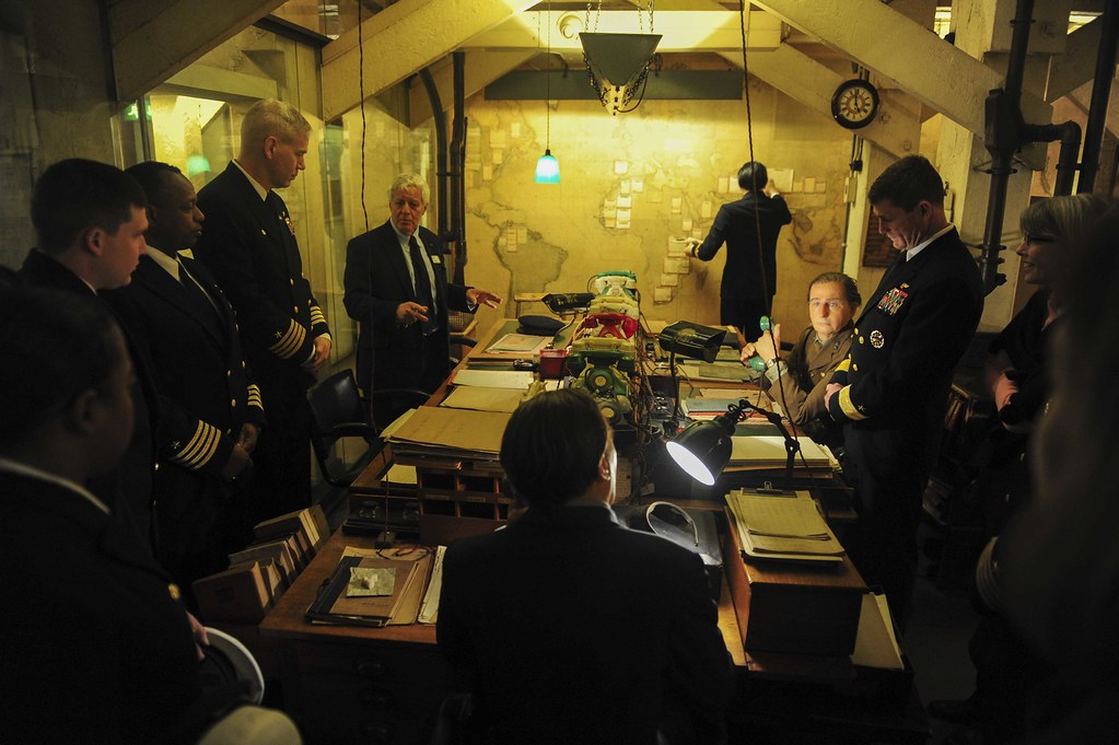 Sailors visit the Churchill War Rooms Museum in London. | Flickr
