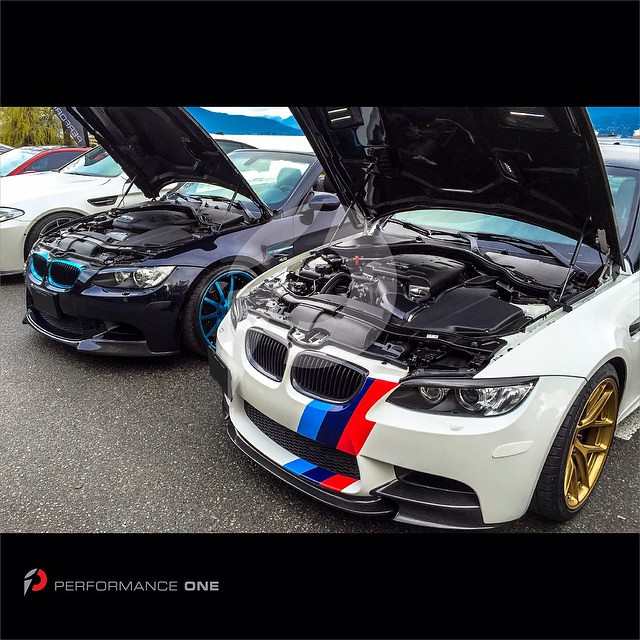 Performance One at the Revscene Spring Meet 2015 - Harrop Performance TVS supercharged BMW E92 M3 vs. DINAN stroker S3-R BMW E93 M3